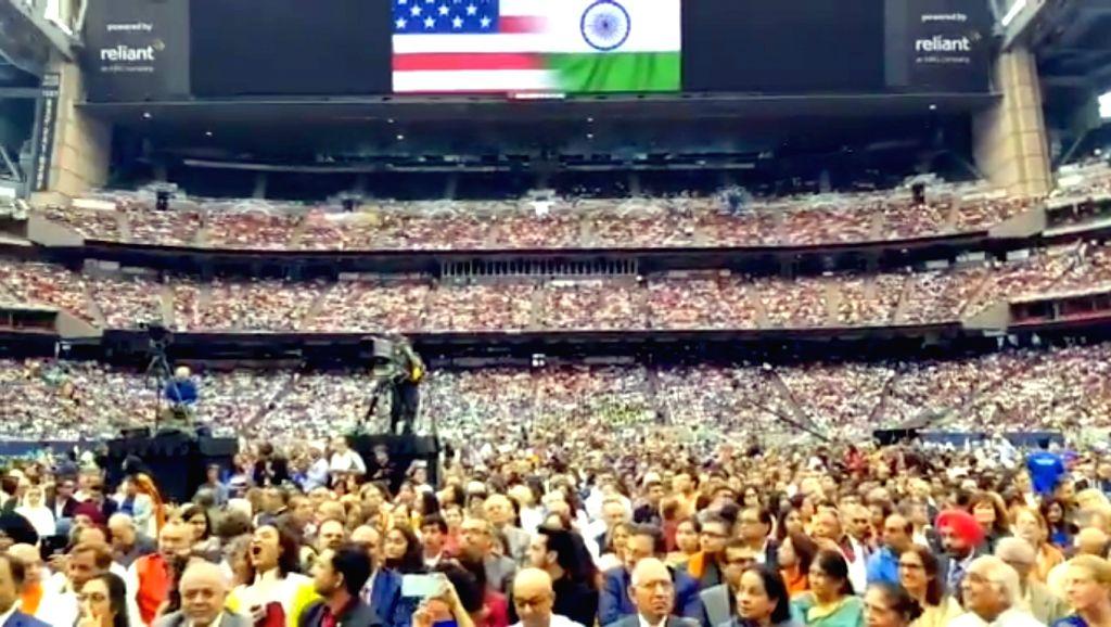Houston: People during the 'Howdy Modi' event at NRG Stadium in Houston, USA, on Sep 22, 2019. (Photo: IANS/MEA) - Modi
