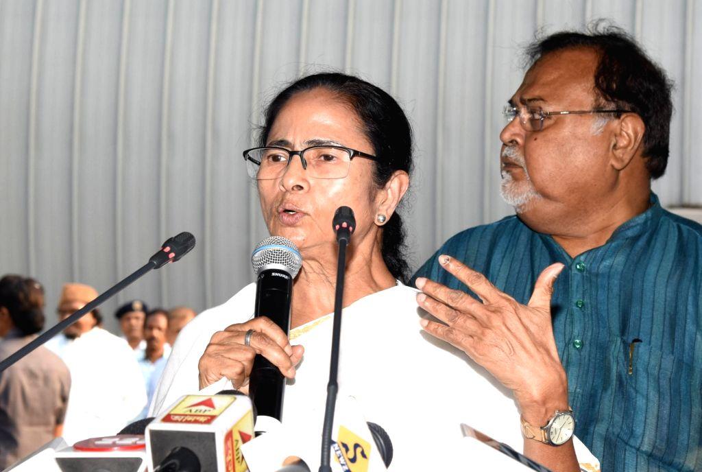 Howrah: West Bengal Chief Minister Mamata Banerjee during a meeting at Nabanna in Howrah on June 3, 2019. (Photo: IANS) - Mamata Banerjee