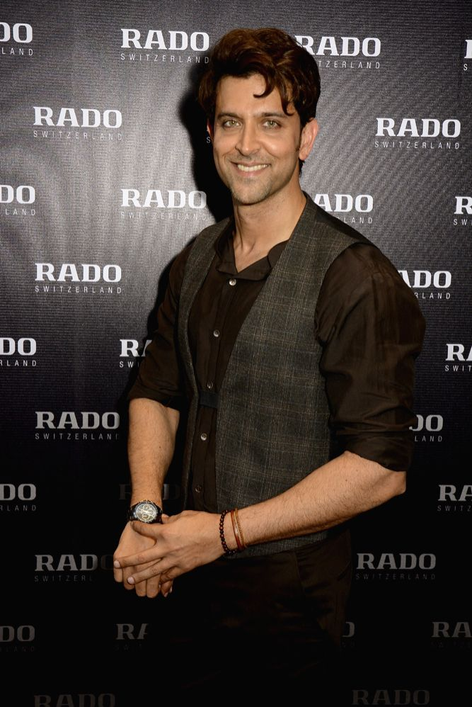 Hrithik Roshan Brand Ambassador Rado wearing Rado HyperChrome Chocolate Brown Chronograph - Rado