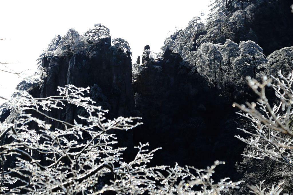 Photo taken on Jan. 7, 2015 shows the scenery of Huangshan Mountain in east China's Anhui Province.