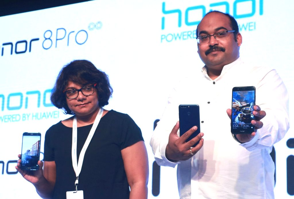 Huawei India-Consumer Business Group Vice-President Sales P Sanjeev at the launch of 'Honor 8 Pro' in New Delhi on July 6, 2017.