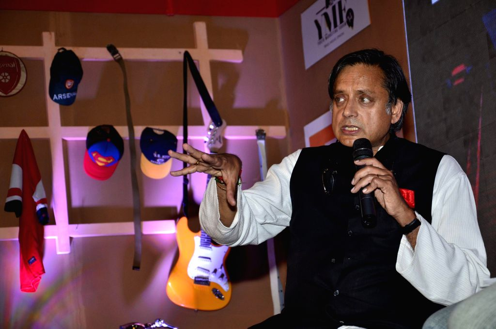 Human Resources Minister Shashi Tharoor during the MTV Youth Marketing Forum 2014 in Mumbai on April 16, 2014.