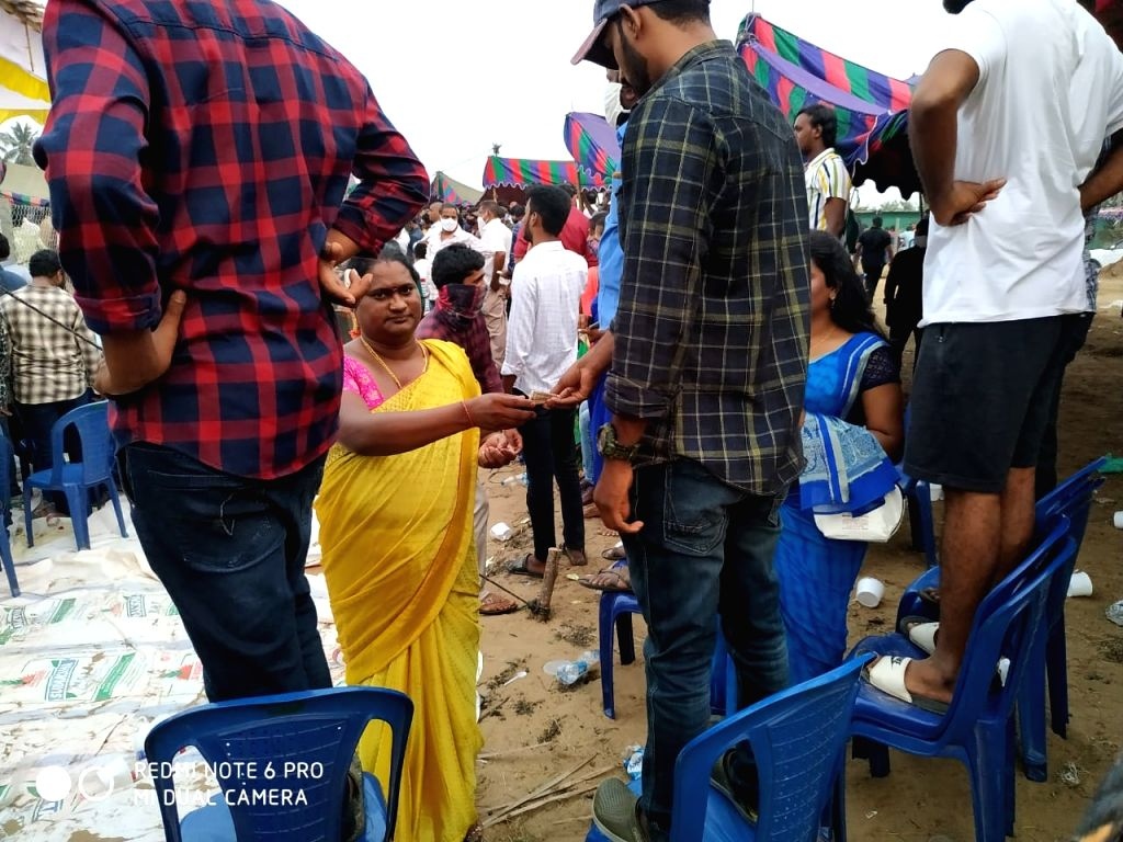 Hundreds of people gathered at Seesali village in Andhra Pradesh's West Godavari district on Wednesday afternoon to engage in cockfights and place bets worth crores of rupees as part of Sankranti celebrations.