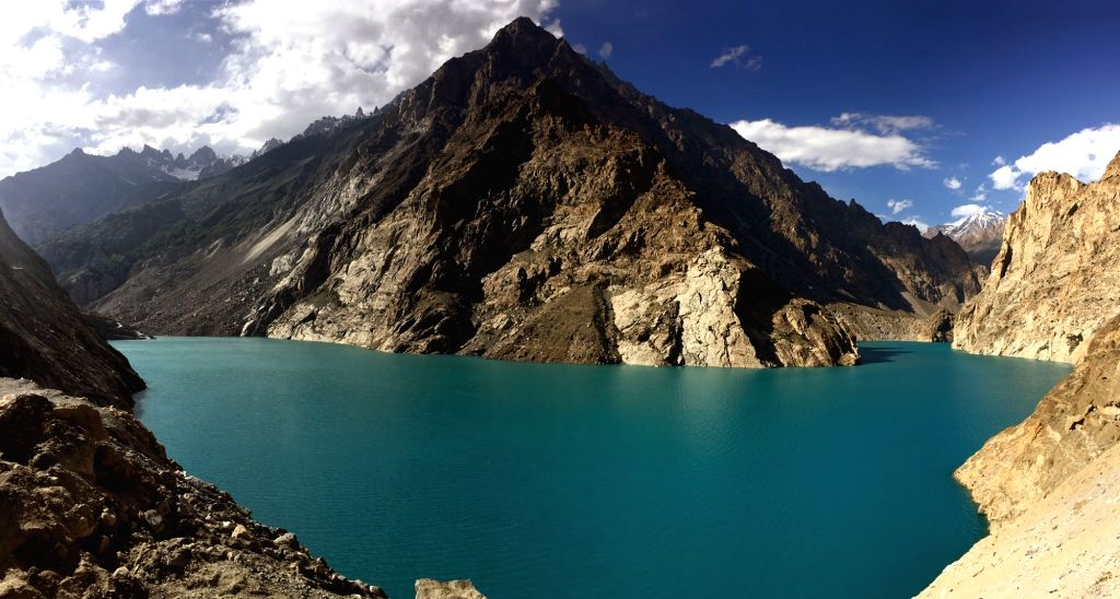 HUNZA, June 27, 2016 - Photo taken on June 27, 2016 shows the scenery of Attabad Lake in northern Pakistan's Hunza. The Attabad Lake was formed due to a massive landslide at Attabad village in ...