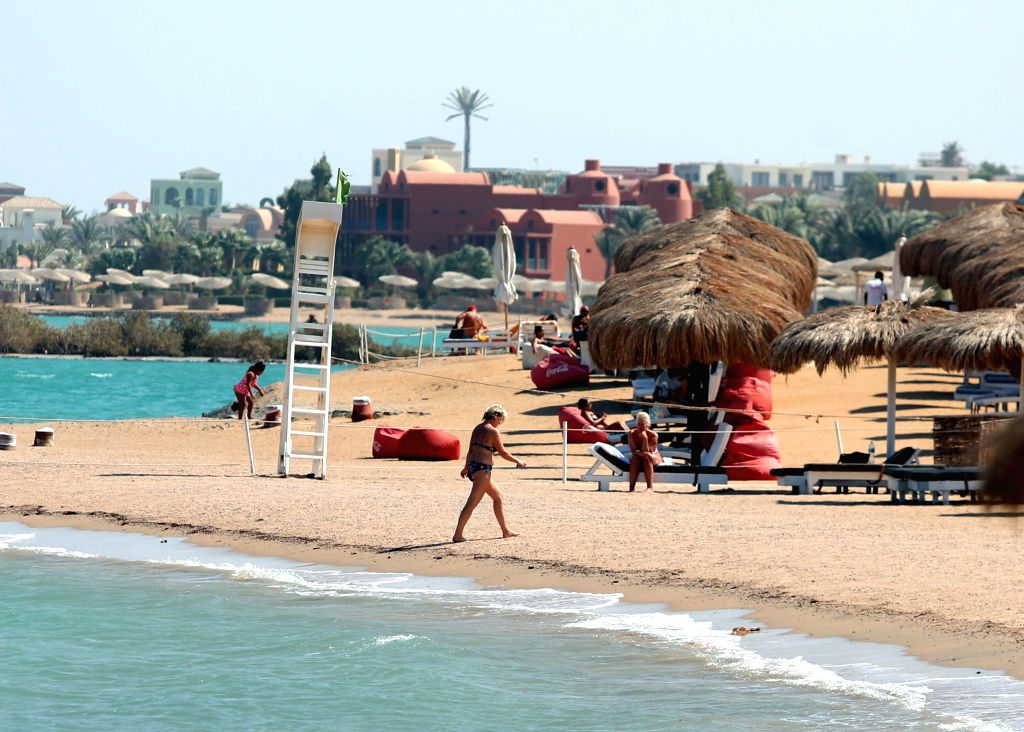 HURGHADA (EGYPT), Sept. 26, 2019 Tourists are seen in Red Sea resort town of El Gouna, Hurghada, Egypt, on Sept. 22, 2019. Business owners in Egypt's Red Sea resort town of El Gouna have ...