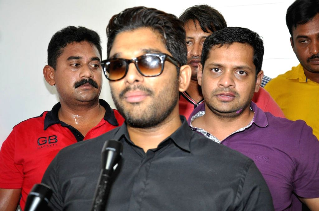 Actor Allu Arjun birthday celebrations in Hyderabad.