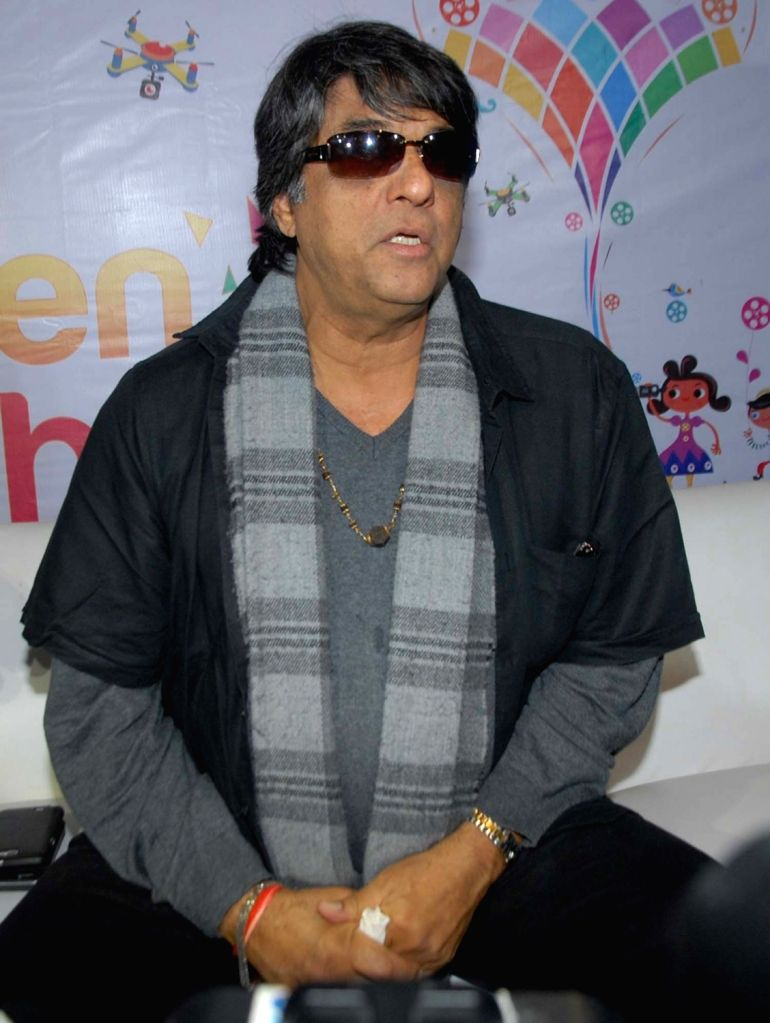 :Hyderabad: Actor and chairperson of Children Film Society of India (CFSI) Mukesh Khanna during a programme in Hyderabad on Nov 13, 2015. (Photo: IANS). - Narendra Modi