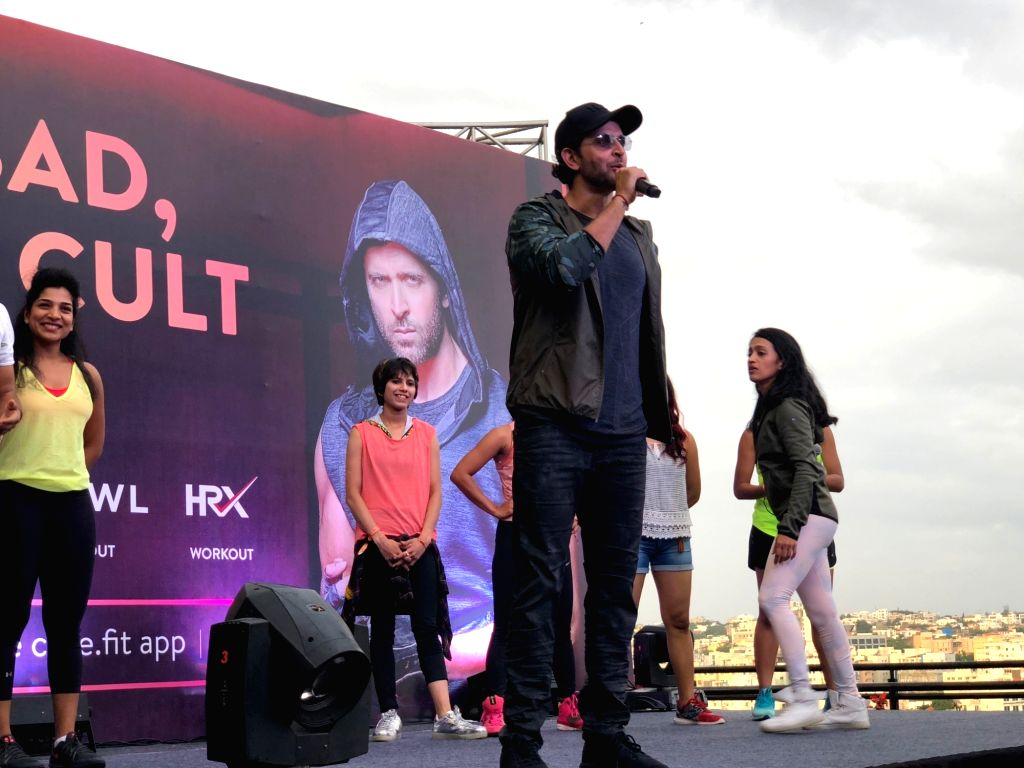 Hyderabad: Actor Hrithik Roshan during a programme in Hyderabad on Aug 25, 2018.(Photo: IANS) - Hrithik Roshan
