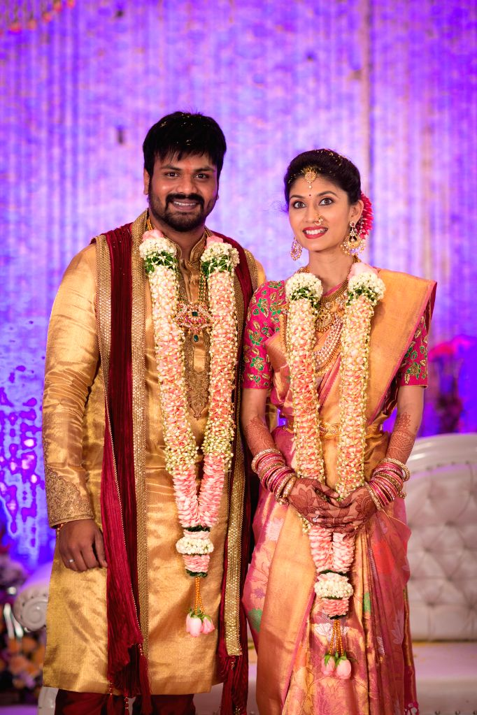 Actor Manchu Manoj`s engagement ceremony at Park Hyatt Hotel in Hyderabad on March 4, 2015.