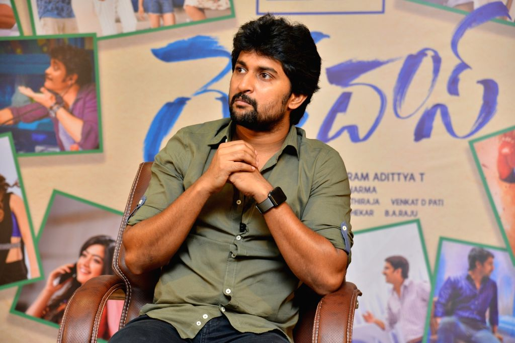 Hyderabad: Actor Nani during a interview in Hyderabad. (Photo: IANS) - Nani