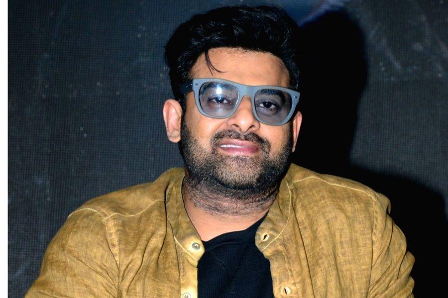 "Hyderabad: Actor Prabhas Interacted to media on his movie ""Saaho"" in Hyderabad. (Photo: IANS) - Prabhas Interacted"