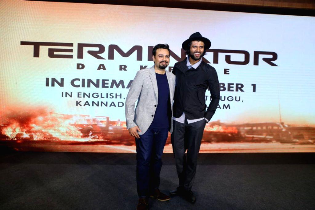 "Hyderabad: Actor Vijay Deverakonda at the Telugu trailer launch of ""Terminator: Dark Fate"" in Hyderabad on Oct 15, 2019. (Photo: IANS) - Vijay Deverakonda"