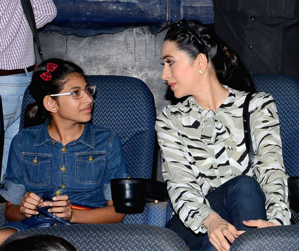 :Hyderabad: Actress Karisma Kapoor during the premier of a film in Hyderabad on Nov 15, 2015. (Photo: IANS).