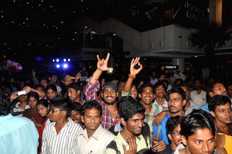 Allari Naresh's Bandipotu film promotional tour held at Vizag on Saturday (14th Feb) .