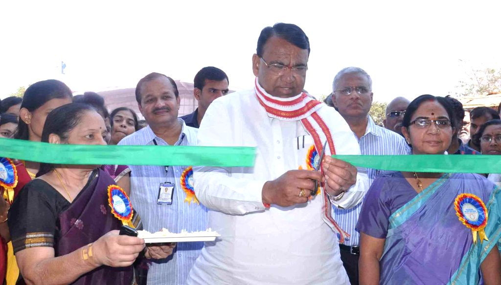 Andhra Pradesh Agriculture Minister P Srinivas Reddy during the inauguration of a `Agricultural Seeds Expo 2015` in Hyderabad on Feb 27, 2015.