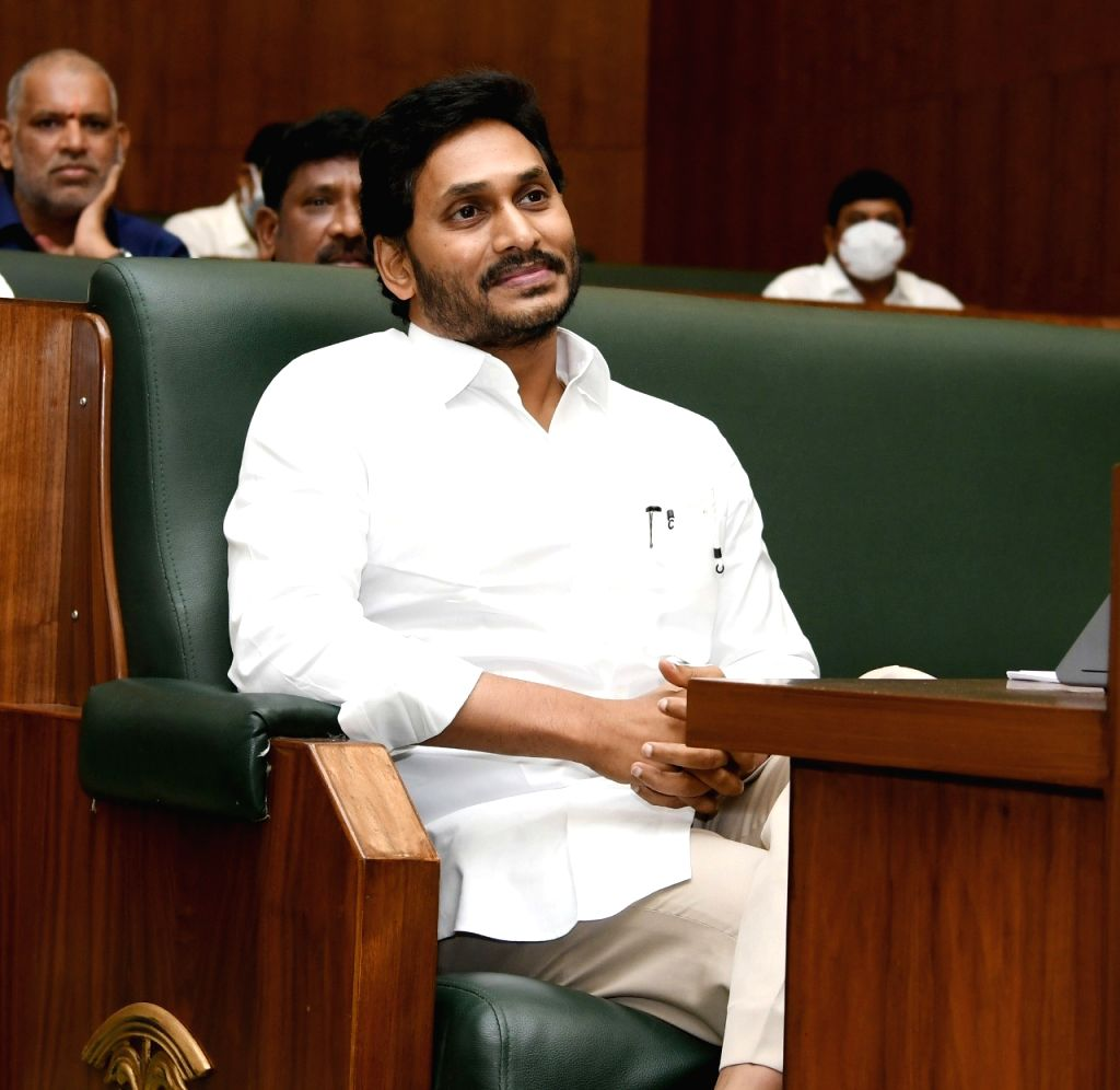 Hyderabad :  Andhra Pradesh assembly budget session are underway and the finance Minister Buggana Rajendranath Reddy introduced the 2021-22 annual budget in the Assembly, The Andhra Pradesh chief minister YS Jagan Mohan Reddy also seen  at Amaravati  - Buggana Rajendranath Reddy and Jagan Mohan Reddy