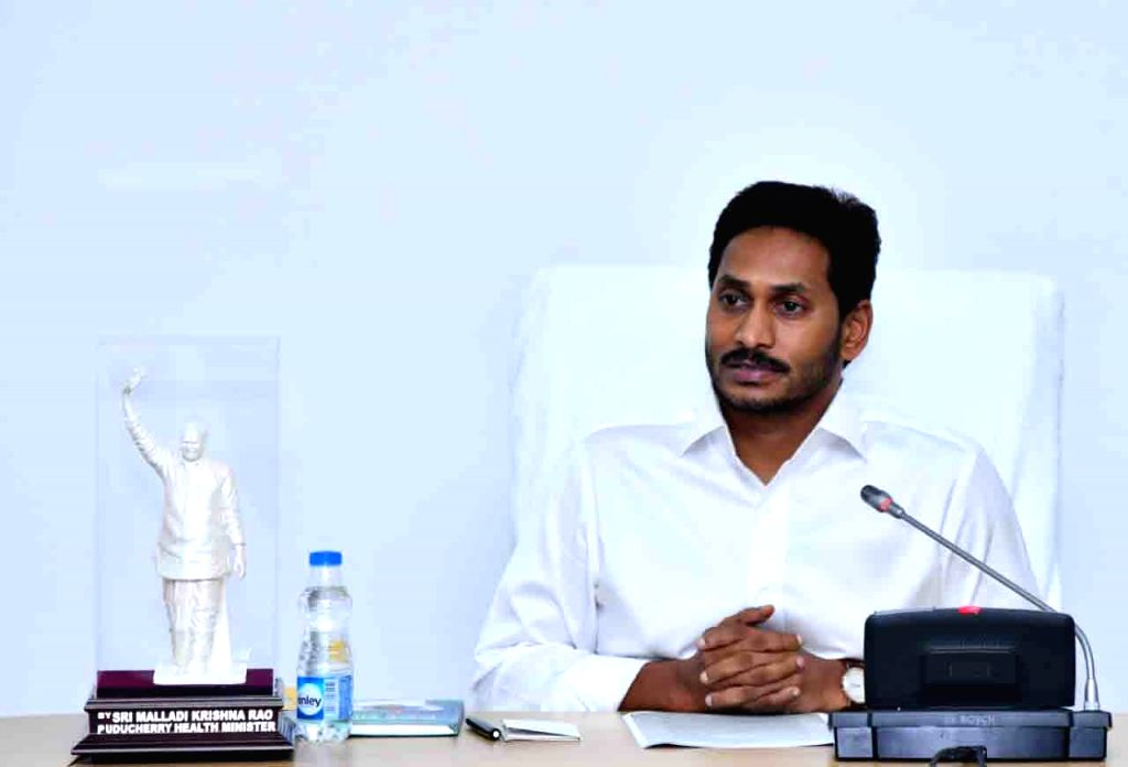 Hyderabad: Andhra Pradesh Chief Minister Y. S. Jagan Mohan Reddy addresses at the State Cabinet sub-committee meeting in Hyderabad, on June 30, 2019. (Photo: IANS) - Y. S. Jagan Mohan Reddy