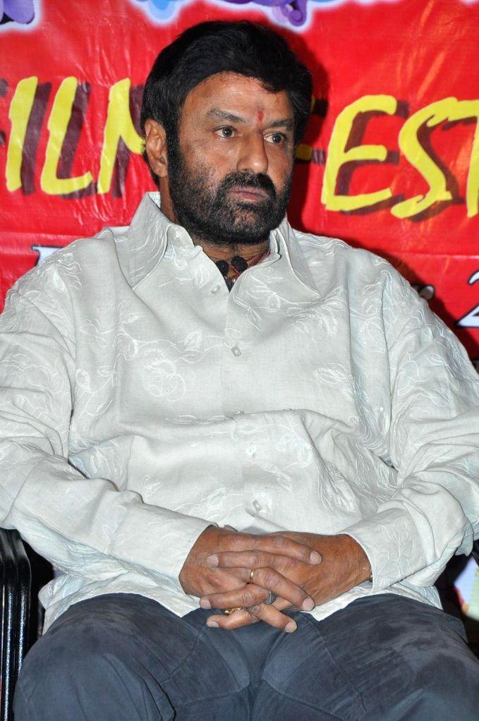 Balakrishna attended Bapu film festival held at Prasad Labs.