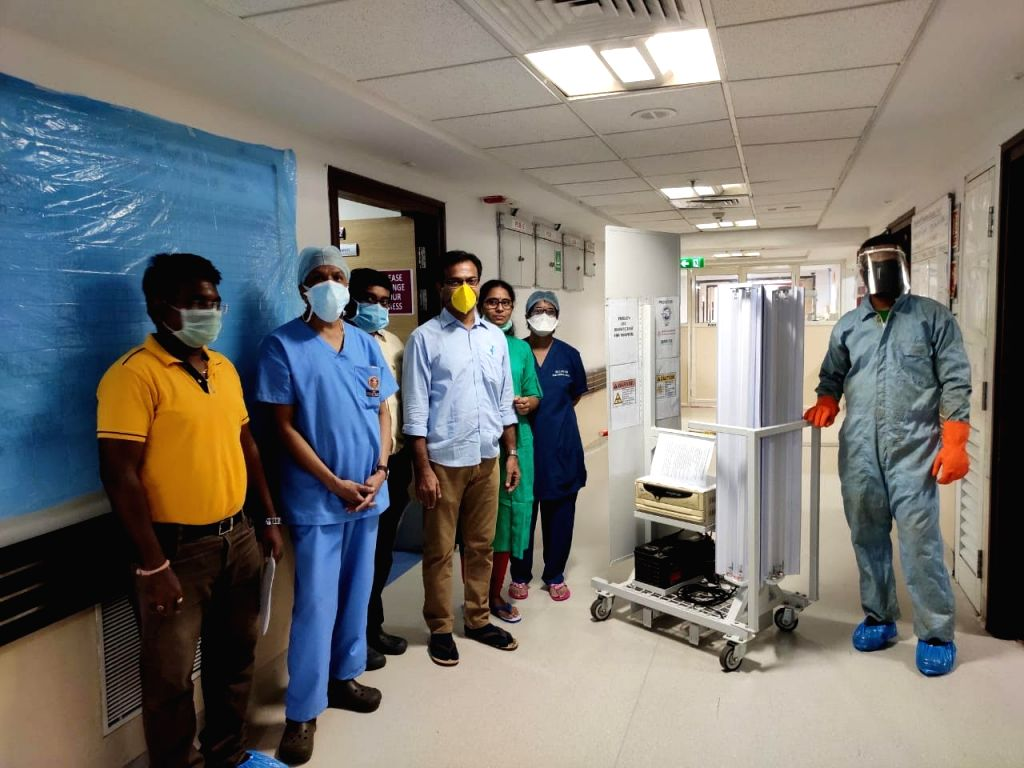 Hyderabad Based Company - Mekins Industries Develops UVC Based Disinfectant Trolley in Association with International Advanced Research Centre for Powder Metallurgy and New Materials (ARCI), an ...