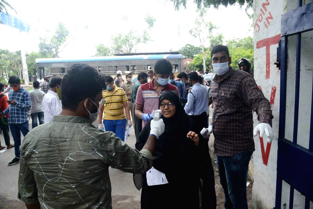 Hyderabad: Braving the scorching sun, 1.2 lakh students in Andhra Pradesh and Telangana wrote the National Eligibility-cum-Entrance Test (NEET). The National Testing Agency (NTA) is conducting the National Eligibility cum Entrance Test - NEET 2020