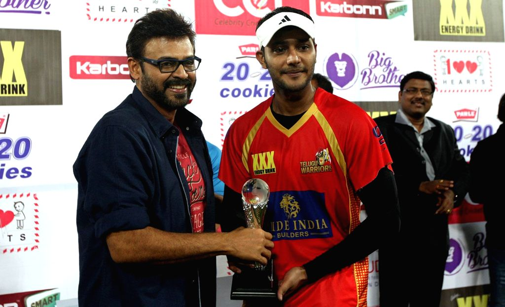 CCL 5 Semi Final 2 - Telugu Warriors Vs Mumbai at Rajiv Gandhi International Cricket Stadium, Hyderabad.