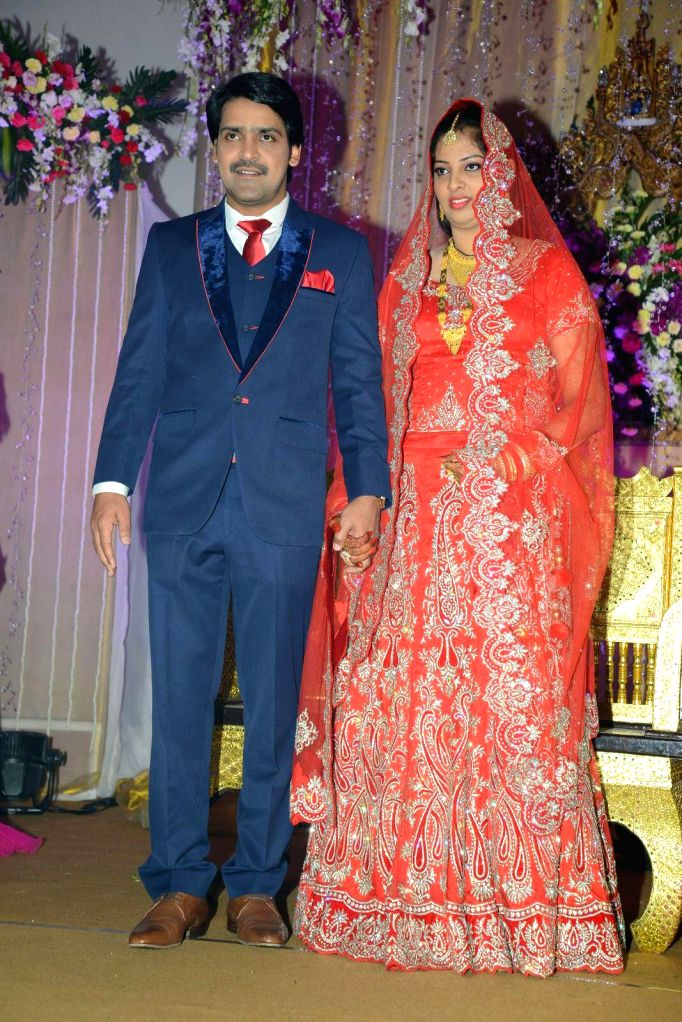 Comedian Ali borther Khayyym`s marriage reception at Sandhya Convention Centre at Gachibowli in Hyderabad.