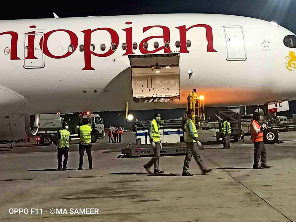 Hyderabad: Connecting Hyderabad's Rajiv Gandhi International Airport to African markets amid ongoing Covid-19 pandemic and lockdown, Ethiopian Airlines launched cargo services between Addis Ababa and Hyderabad. The maiden cargo flight of Ethiopian Ai