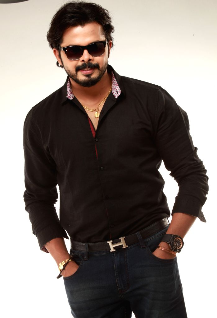 Cricketer Sreesanth during the press meet of his upcoming Telugu film `multilingual` in Hyderabad.