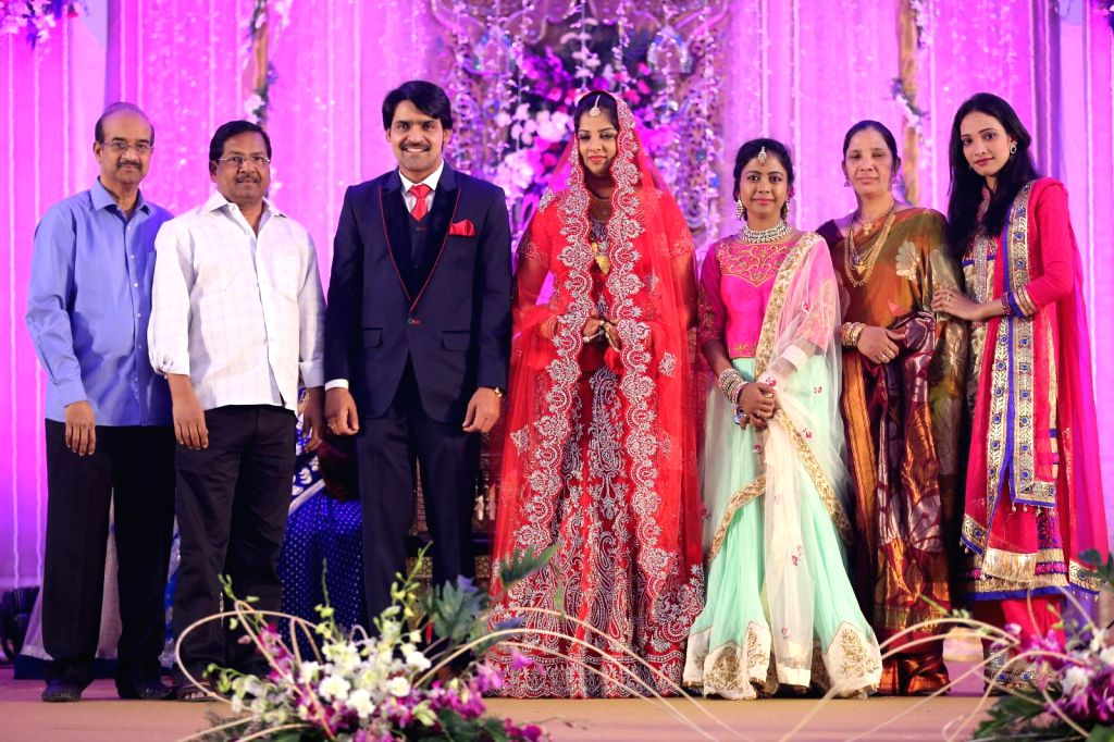 Director B Gopal attended comedian Ali borther Khayyym`s marriage reception at Sandhya Convention Centre at Gachibowli in Hyderabad.
