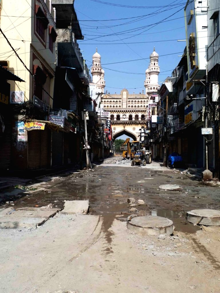 Hyderabad : GHMC laying Road and drain line in Hyderabad on wednesday, 26 May, 2021.