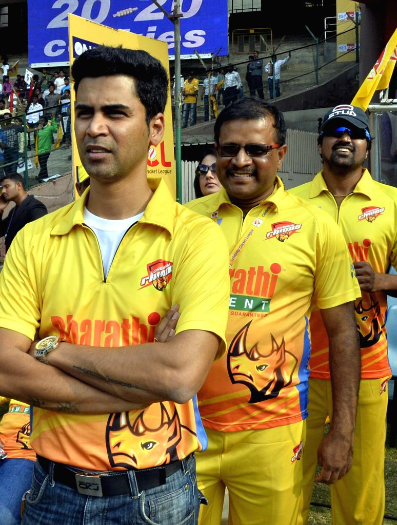 Images of CCL match between Chennai Rhinos Vs Veer Marathi Match