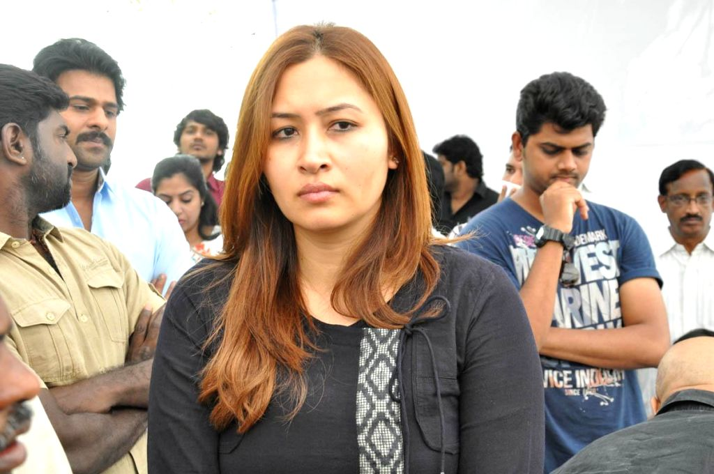 Indian badminton player Jwala Gutta arrives to pay her last respect to multilingual Indian film producer Daggubati Ramanaidu (D Ramanaidu), who breathed his last on 18th Feb 2015 , in ...