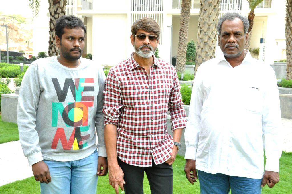 Jagapati Babu acted Telugu film Hitudu Press meet at Kukatpally in Hyderabad.