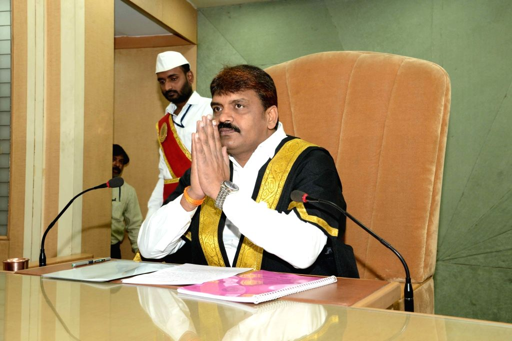 Hyderabad Mayor Bonthu Rammohan addresses during Greater Hyderabad Municipal Corporation (GHMC) Annual Meeting in Hyderabad, on  Feb 9, 2019.