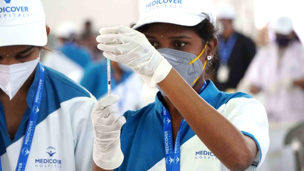 Hyderabad :  Mega Covid vaccination administration drive was inaugurated by Director of Public Health (DPH) Dr G Srinivasa Rao at Hitex Exhibition Ground, by Medicover Hospitals in Hyderabad on ... - G Srinivasa Rao