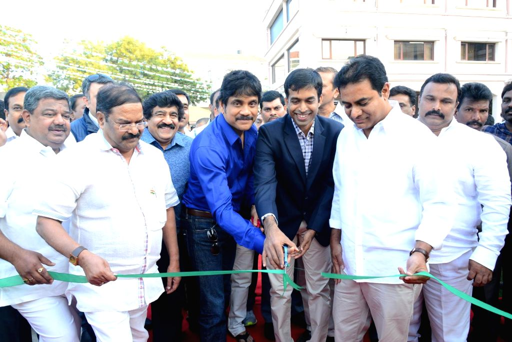 Nagarjuna,KTR launches Shooting center &  ANR Gardens at FNCC.