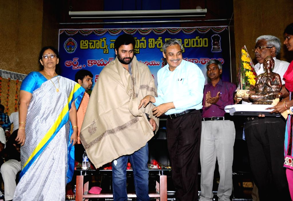Nara Rohit at nagarjuna university anniversary celebration. - Rohit