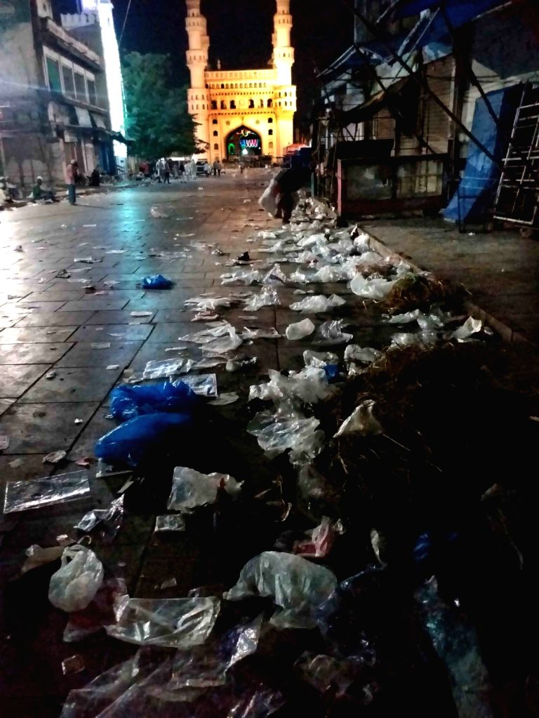 Hyderabad : On the eve of Eid-ul-Fitr the police have started strictly imposing the night curfew around Charminar to ensure compliance with the Covid-19 norms to prevent people from gathering in ...