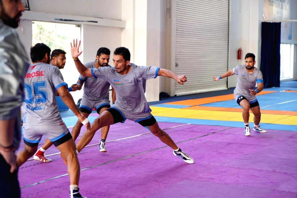 Hyderabad: Players in action during the Pro Kabaddi League match between Haryana Steelers and Puneri Paltan in Hyderabad, 21 July 2019. (Photo: IANS)