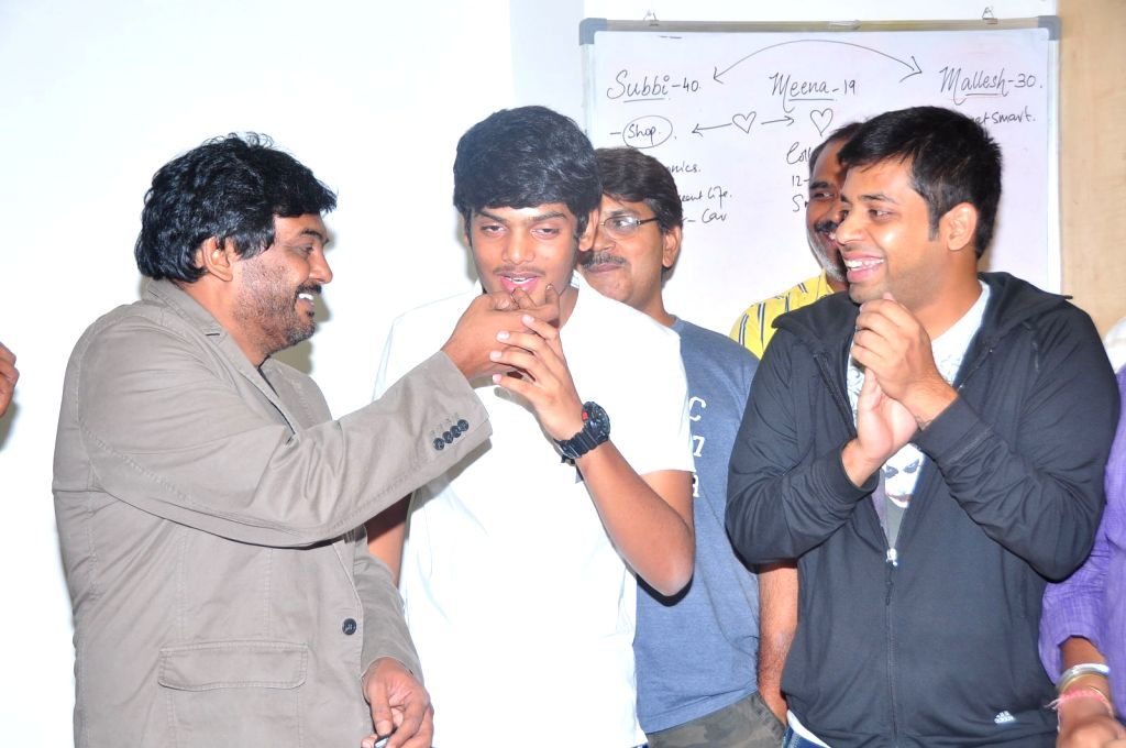 Puri Jagannadh launched a song of Telugu movie Andhra Pori at Radio Mirchi on 30 April, 2015.