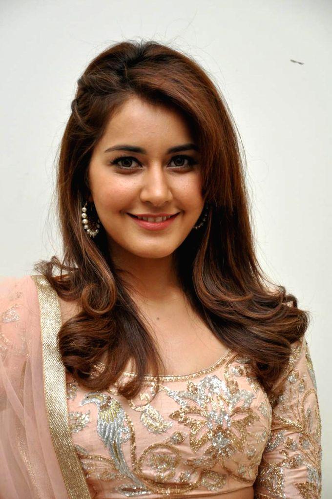 Rashi Khanna during audio lanch of film Jil at Shilpa Kalavedika. - Rashi Khanna