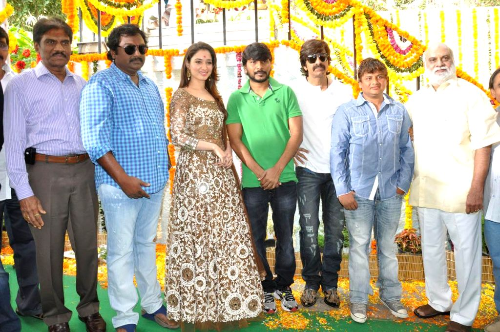 Raviteja, Tamanna acting Bengal Tiger film Opening held at Ramanaidu Studio in Hyderabad on 30th Jan 2015.
