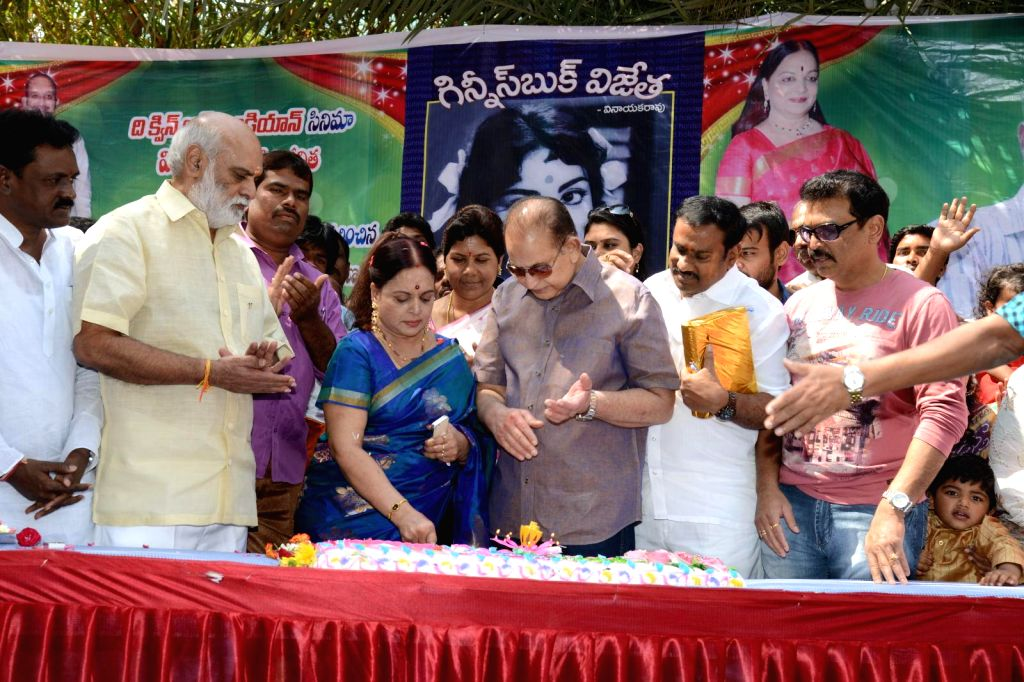 Senior Film Journalist U Vinayaka Rao write a book on Guiness Book recored holder actress, Director Vijaya Niramala,  On the occassion of her birthday book was released today (20th Feb) ...