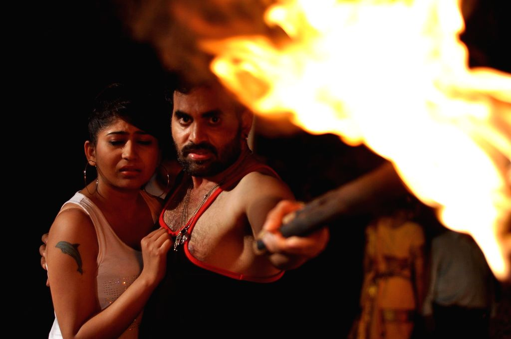 Hyderabad : Still of telugu movie Gate