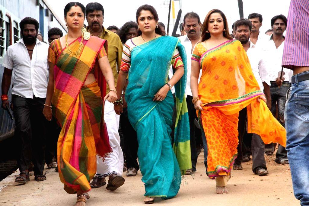 Stills from Telugu film `Maga Maharaju`.
