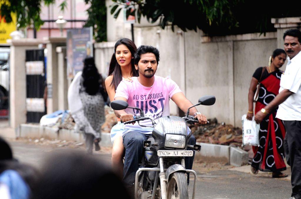Stills from Telugu film `Pandavallo Okadu`.