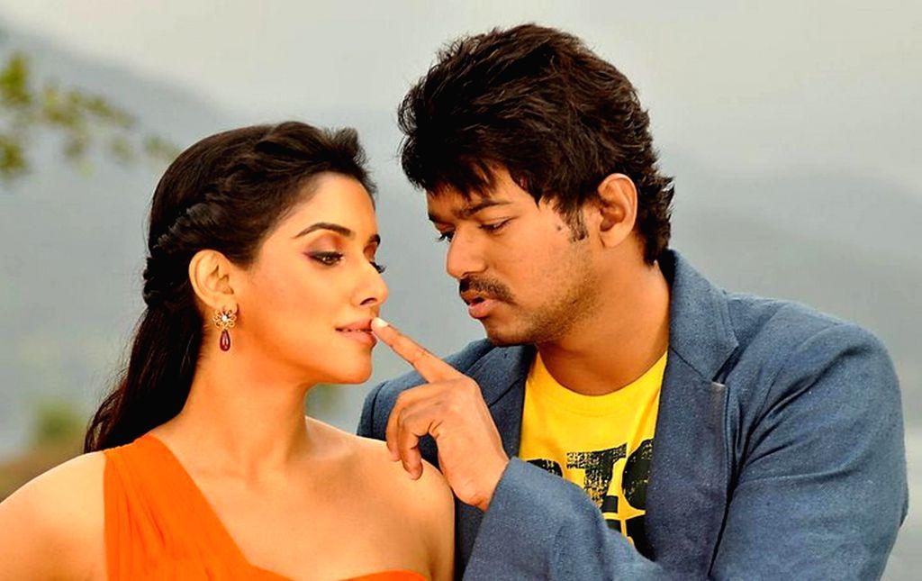 Stills from Telugu film `Simhamanti Chinnodu`on 22th Jan 2015.