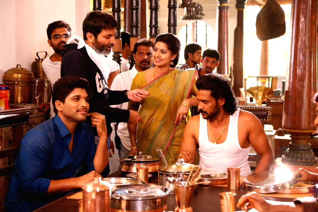 Stills from Telugu film `Son Of Satyamurthy`.