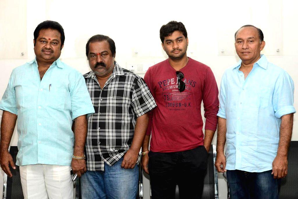 Stills from upcoming Telugu film `Heroine Press meet`.
