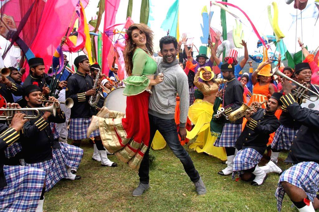 Stills from upcoming Telugu film `Maga Maharaju`.